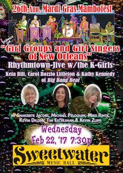 Rhythmtown-Jive + the K-Girls poster for 2-22-17